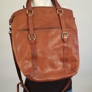 I Medici Firenzi Tan Brown Leather Bag Unisex